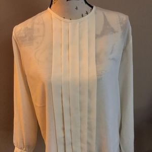 Sheer Pleated Blouse